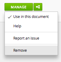 manage dropdown