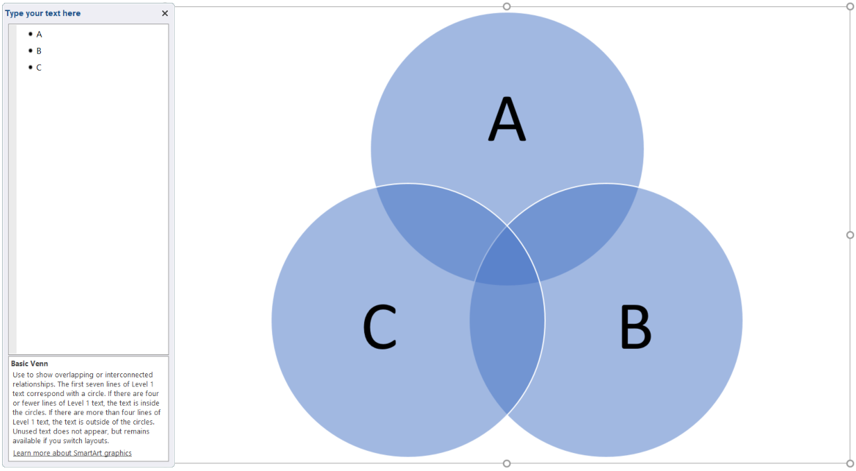 How to create a venn diagram in powerpoint lucidchart enter venn diagram text pooptronica Gallery