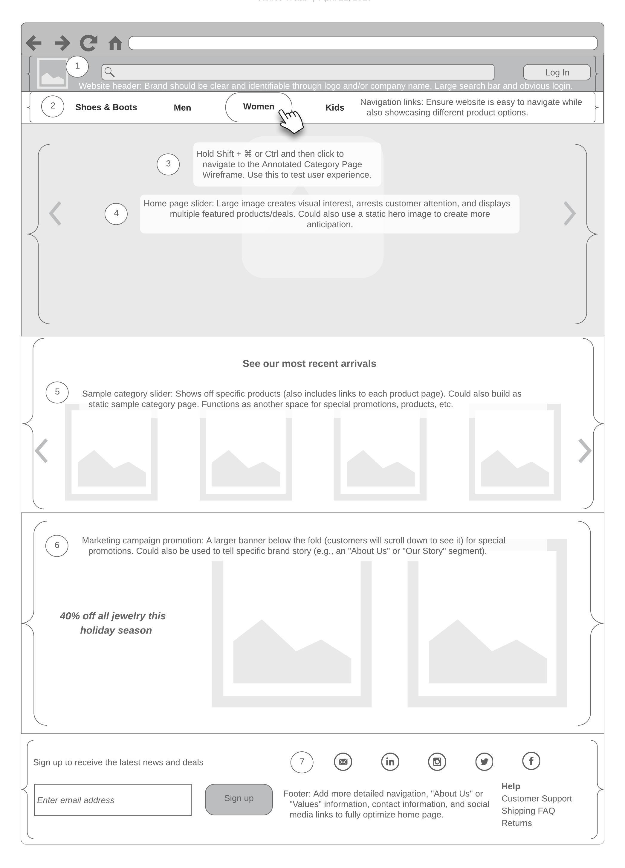 e-comm wireframe template