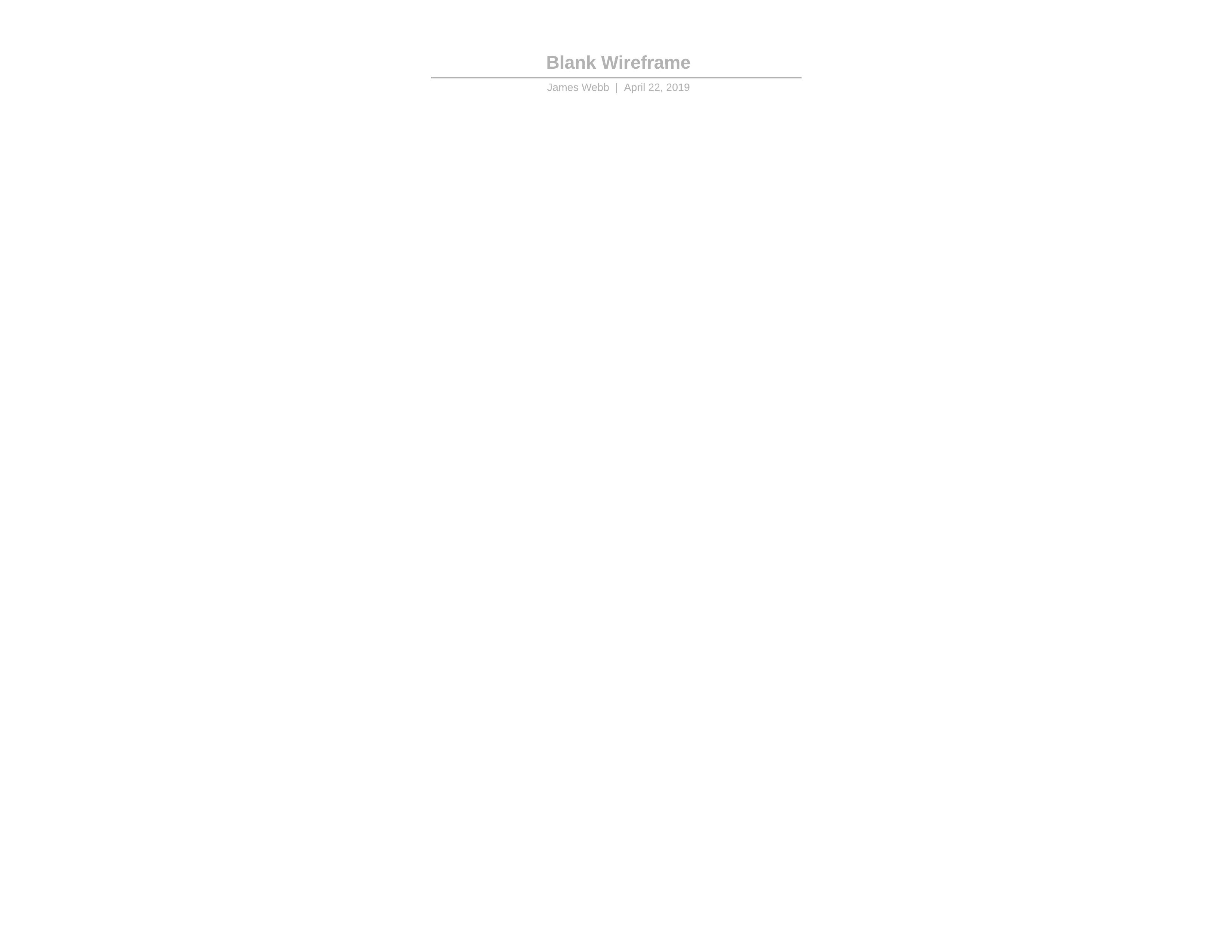 blank wireframe template