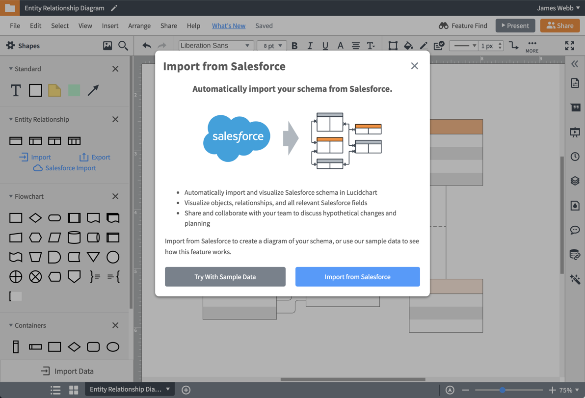 Импортирование схем из Salesforce
