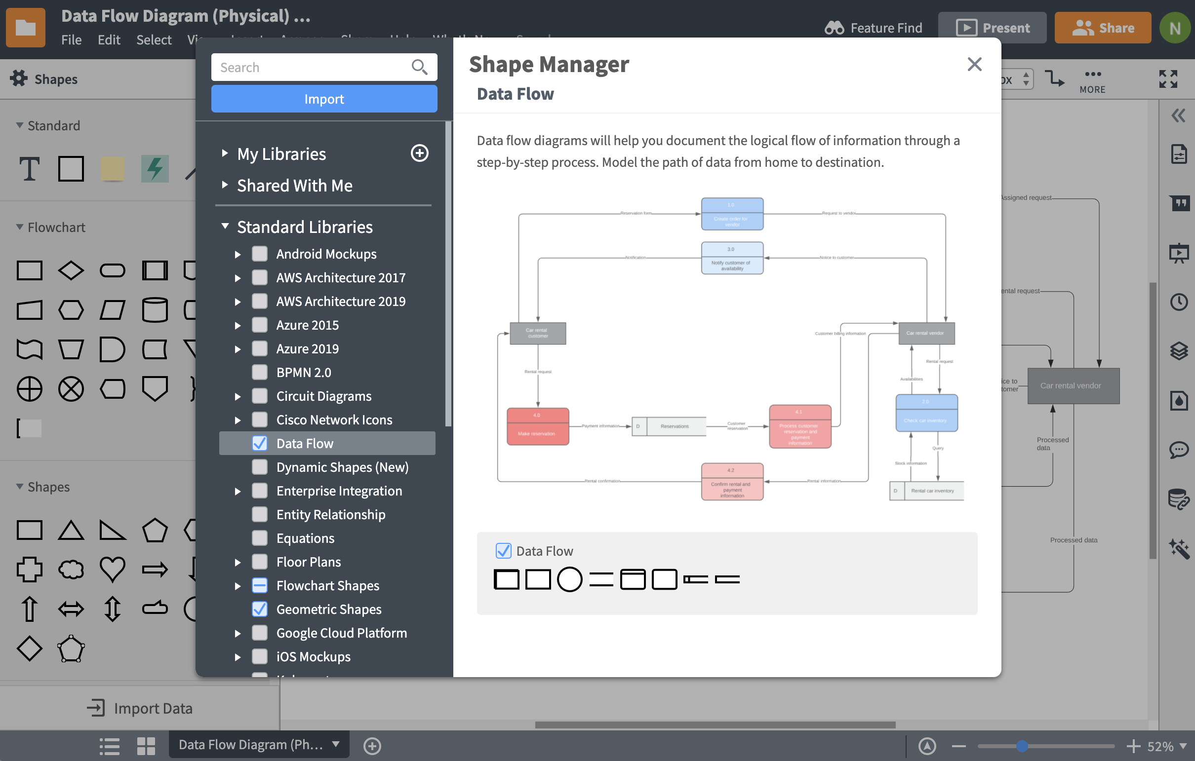 Data Flow Diagram Dfd Software Lucidchart