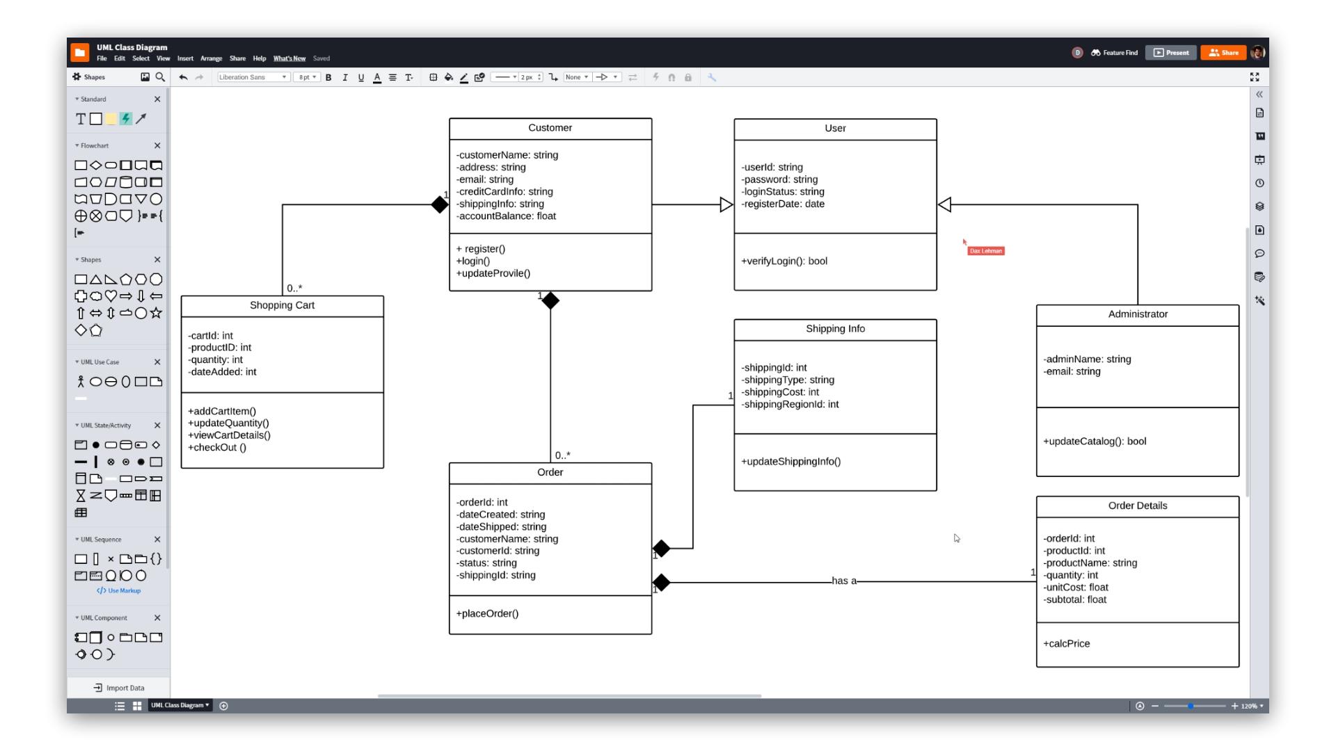 UML Diagram Tool | LucidchartLucidchart