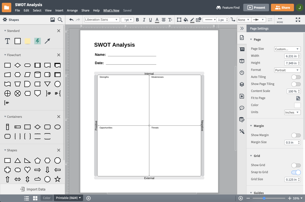 online swot analysis software