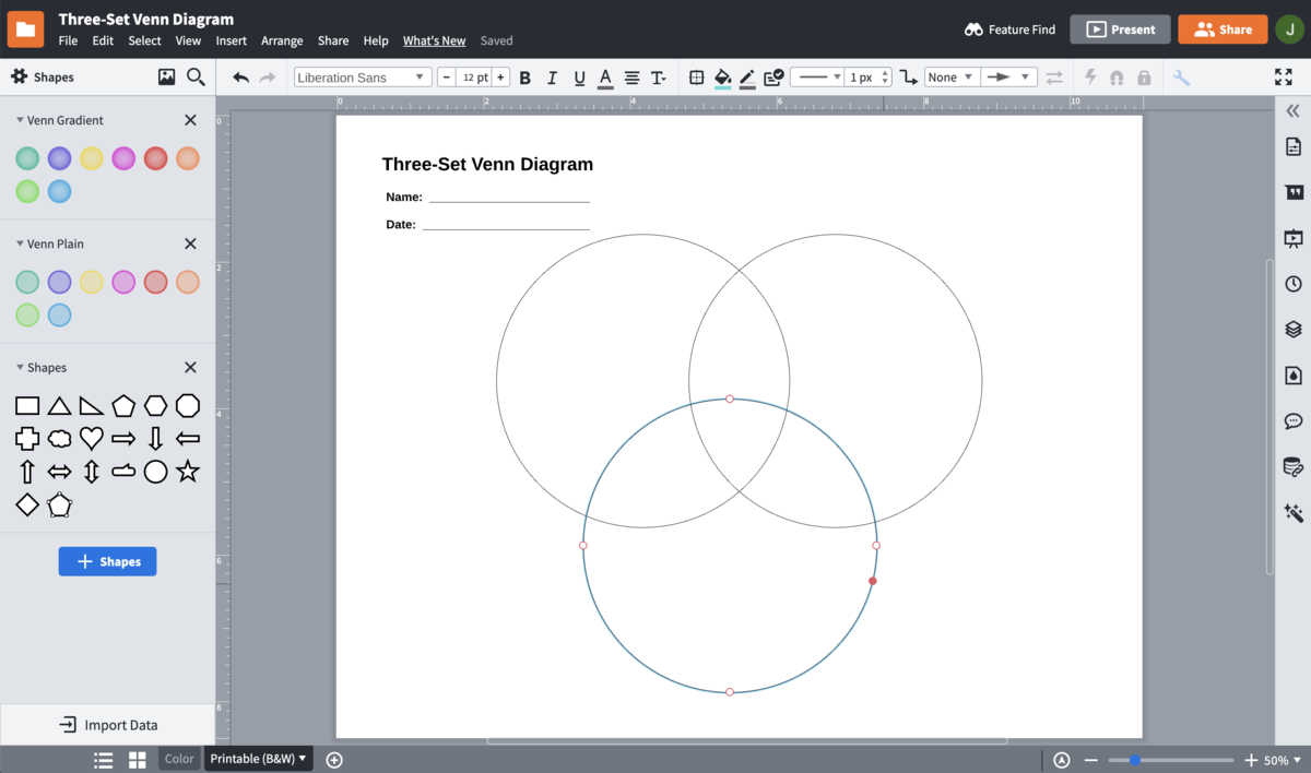 Venn Diagram Maker Lucidchart