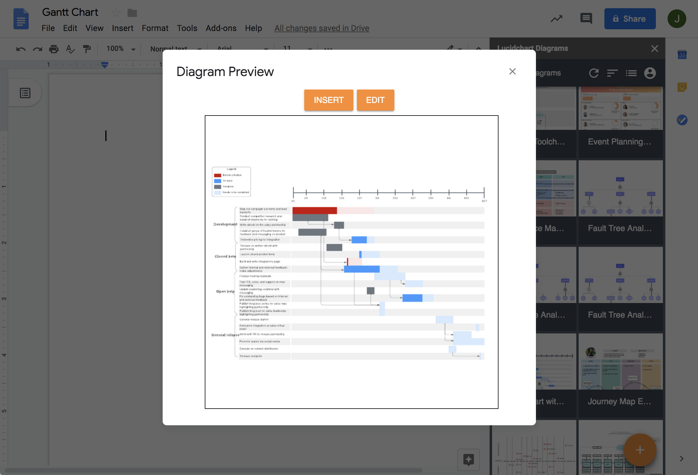 Integraciones de G Suite con la alternativa a Visio