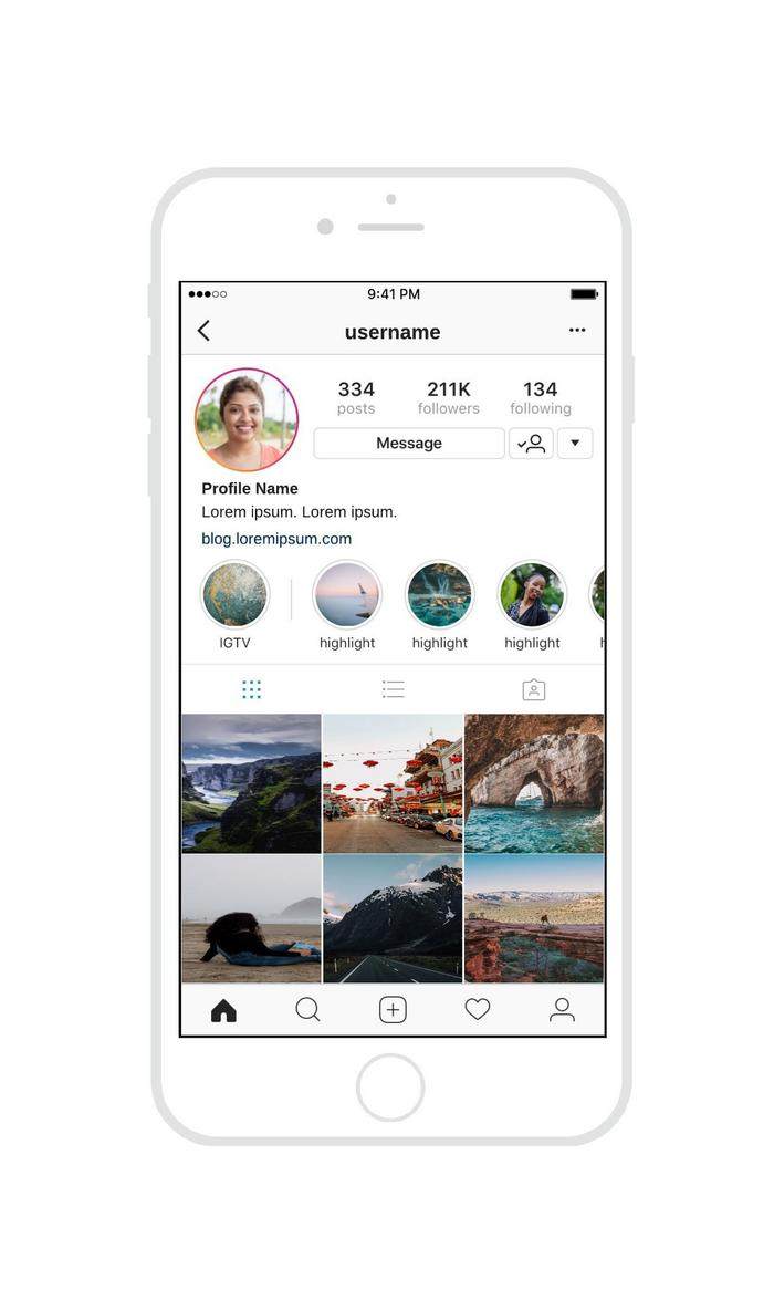 instagram mockup template