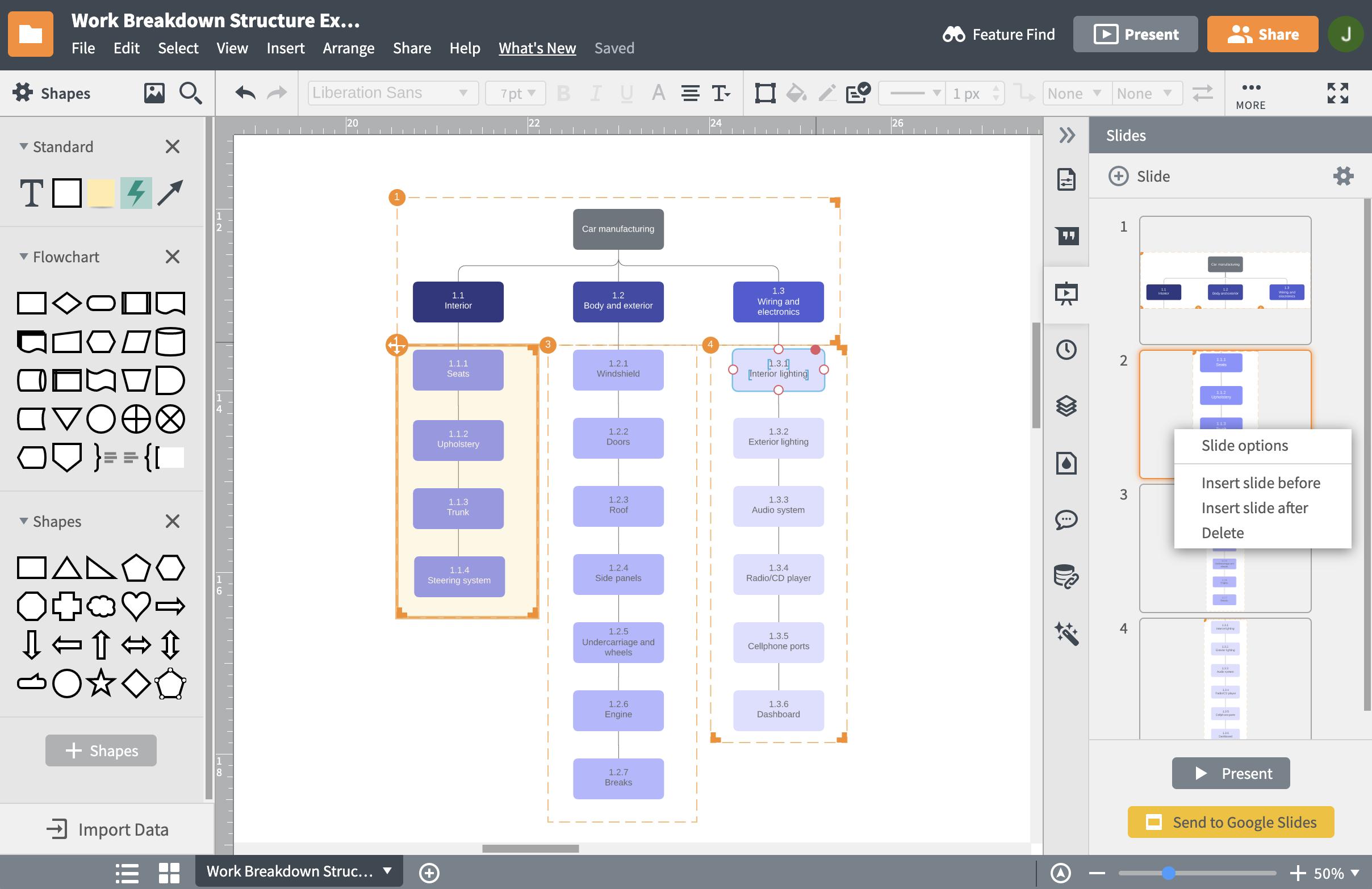 WBS online (Work Breakdown Structure)