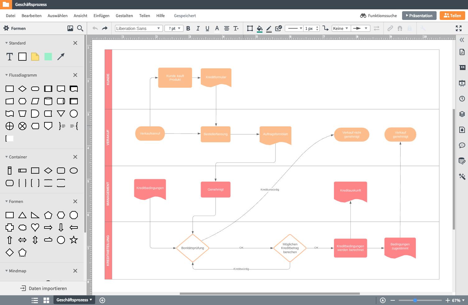 Diagramm erstellen