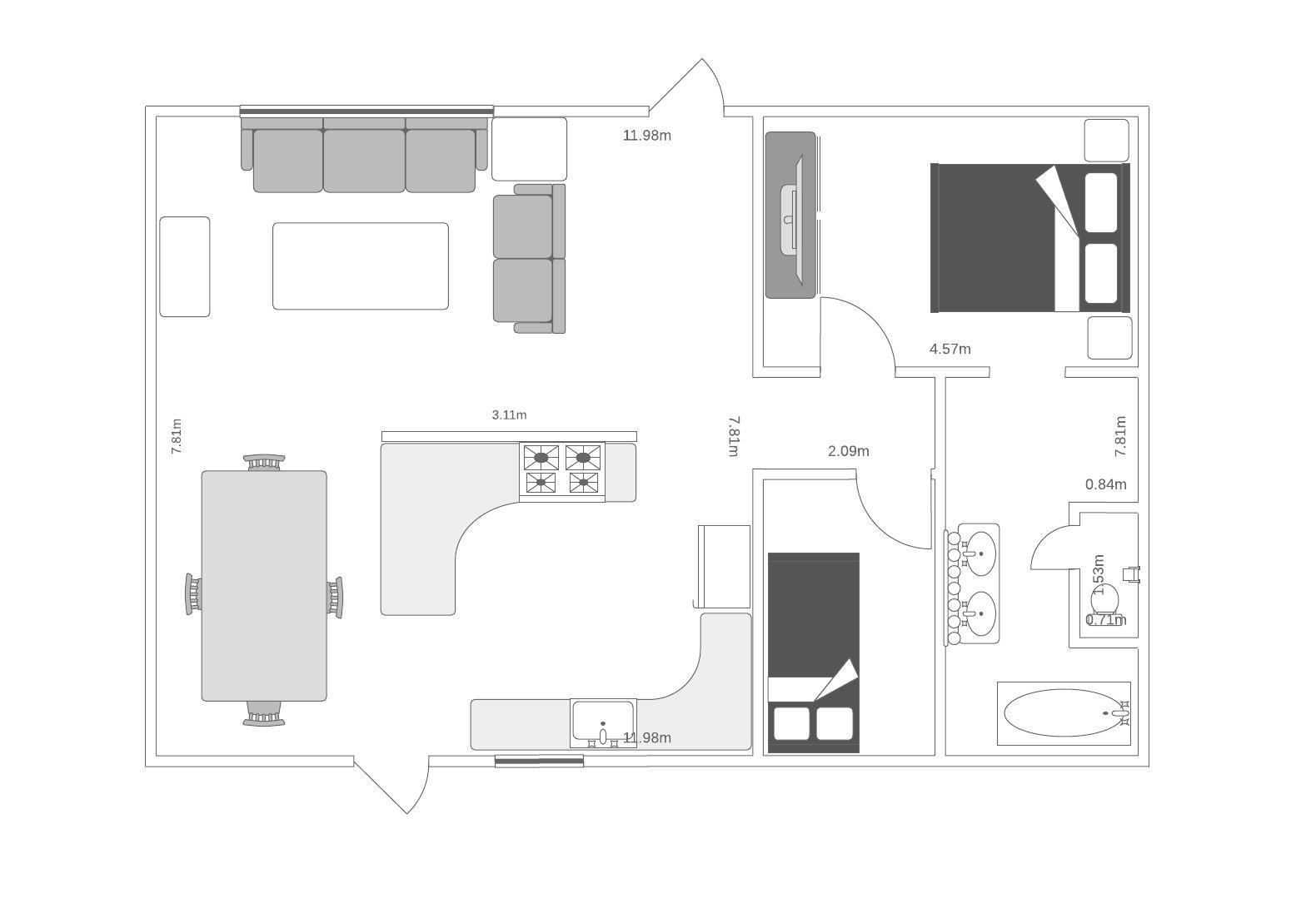 Haus/Wohnung-Grundriss