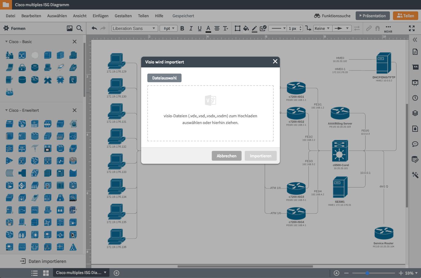 Netzwerkdiagramm Software