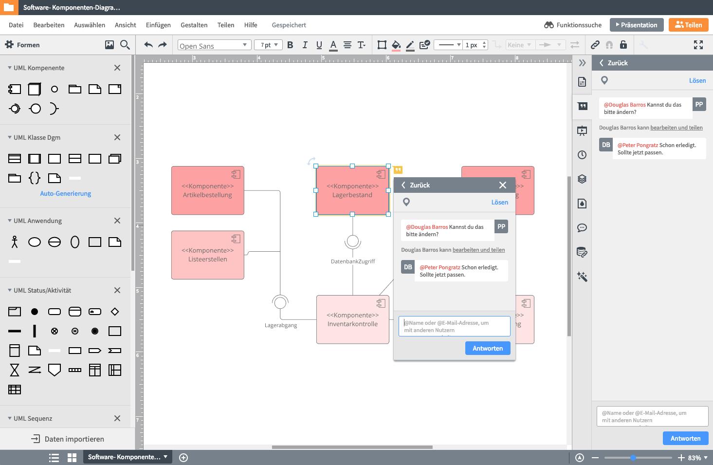 UML Diagramm erstellen online