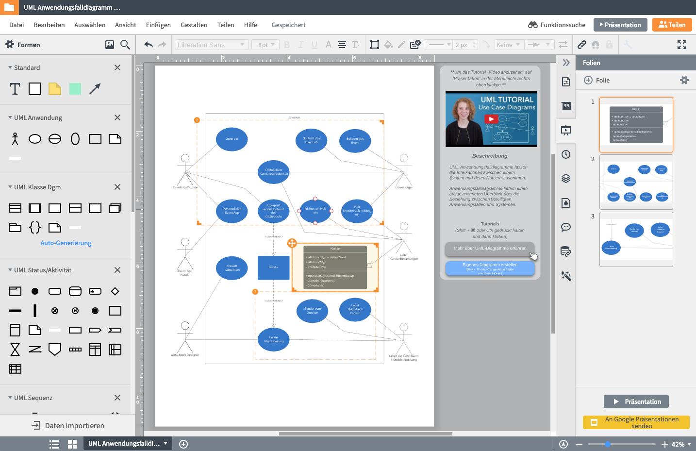 UML-Diagramme online freigeben