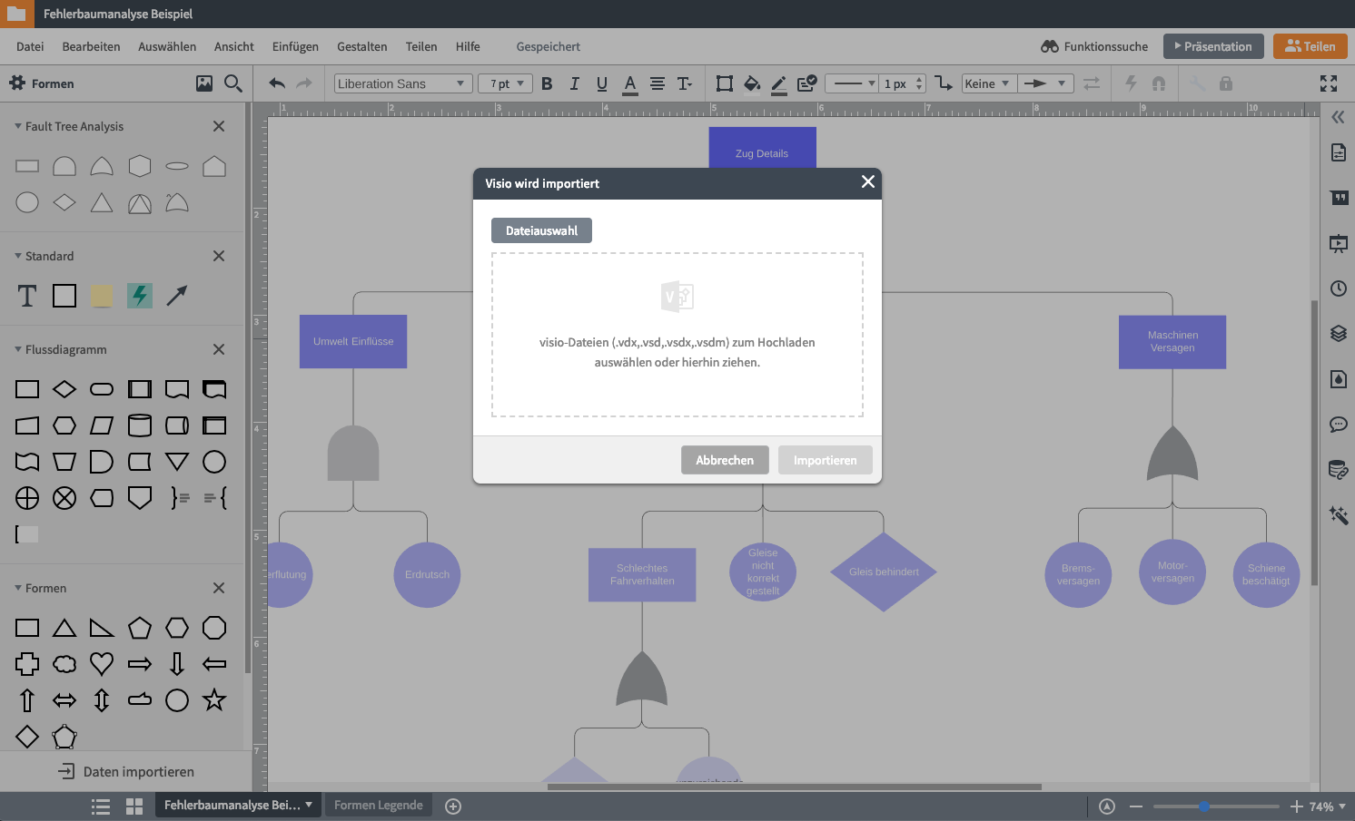 MS Visio import in Lucidchart