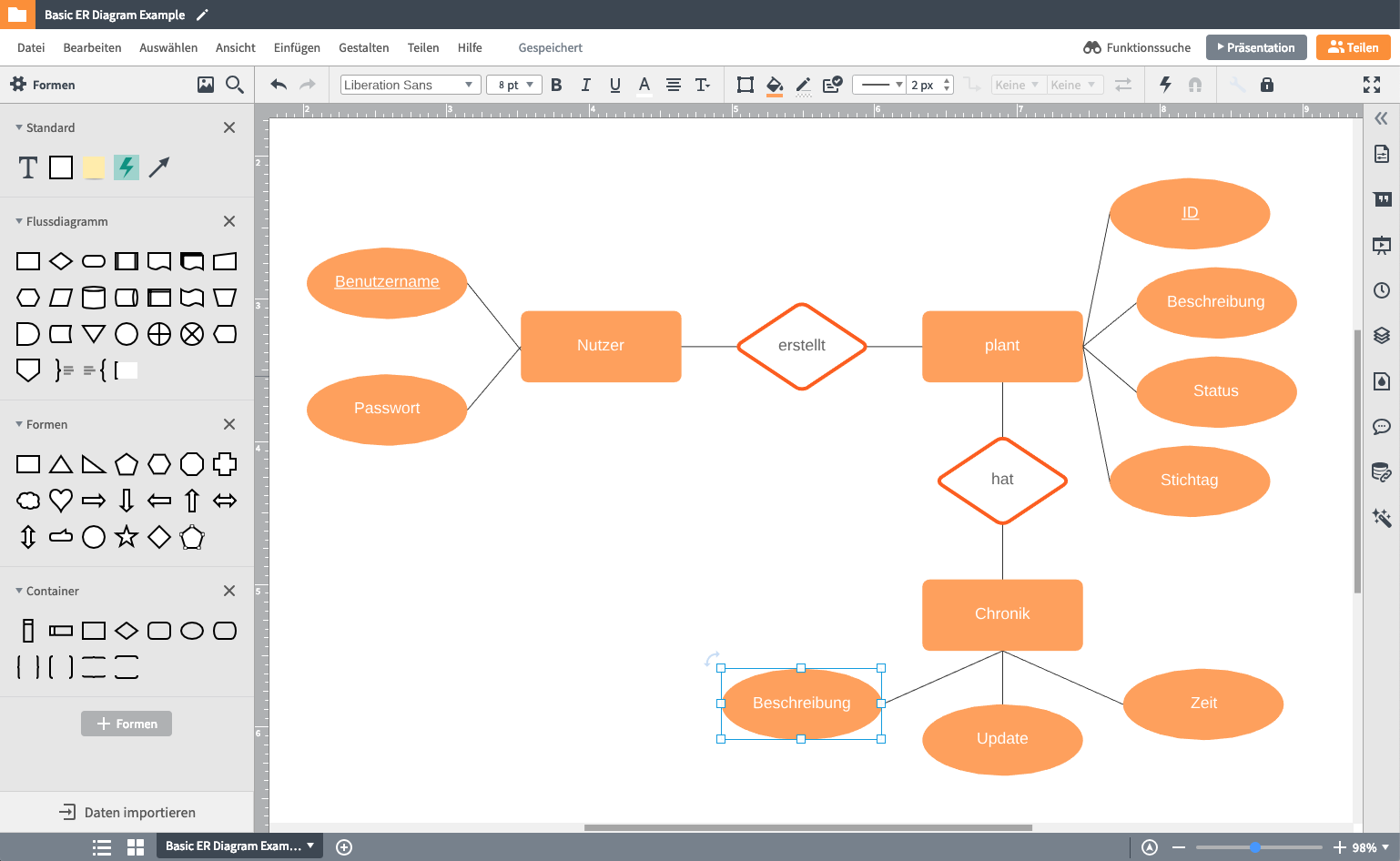 Diagrammerstellung mit Microsoft Visio für Mac