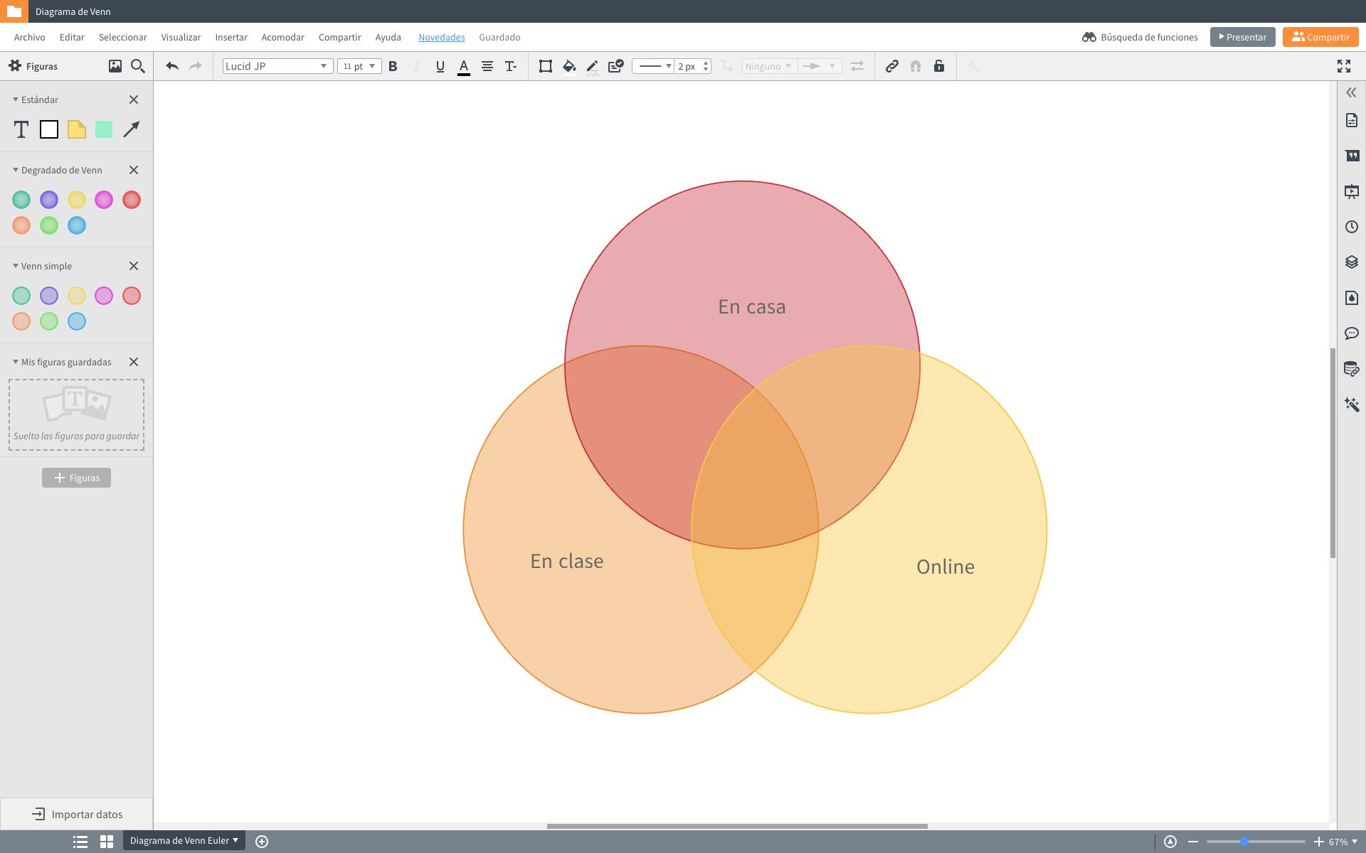 Diseñar diagramas de venn online