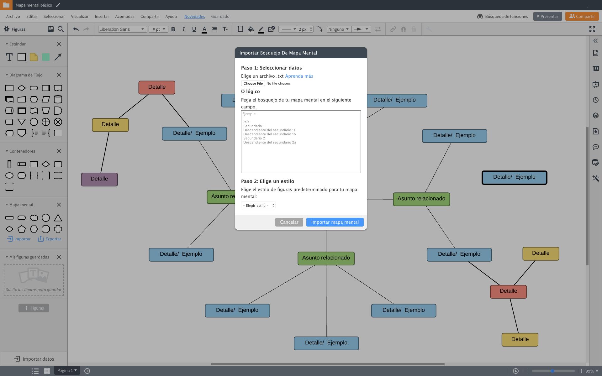 Generador de mapas conceptuales online