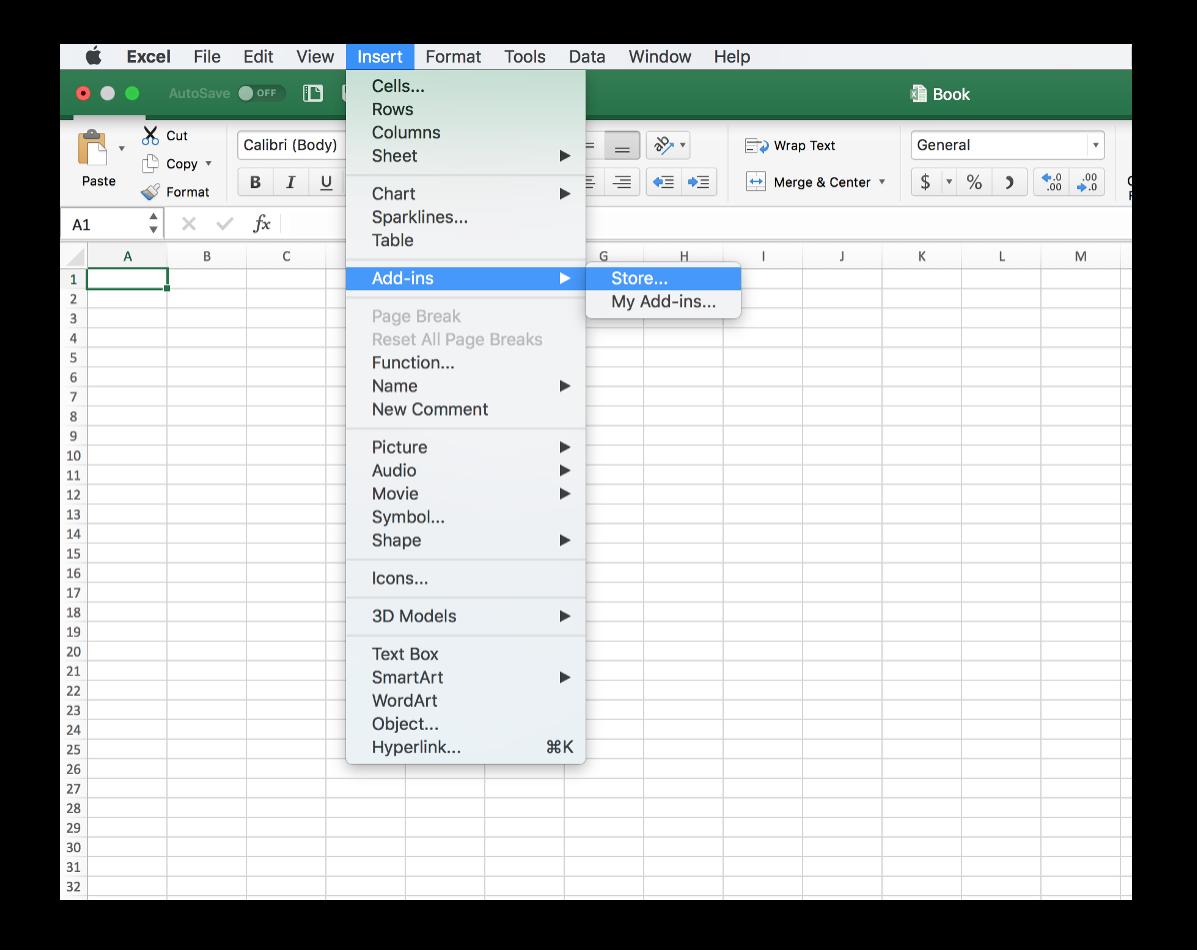 Lucidchart add-in en Excel