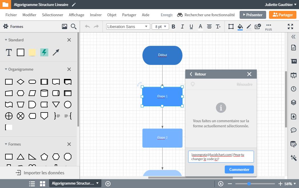 Collaborer et travailler en équipe avec les algorigrammes Lucichart