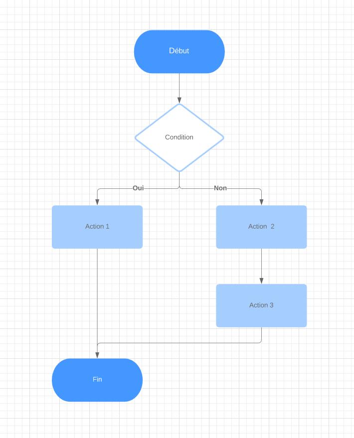 Modèle d'algorigramme à structure alternative