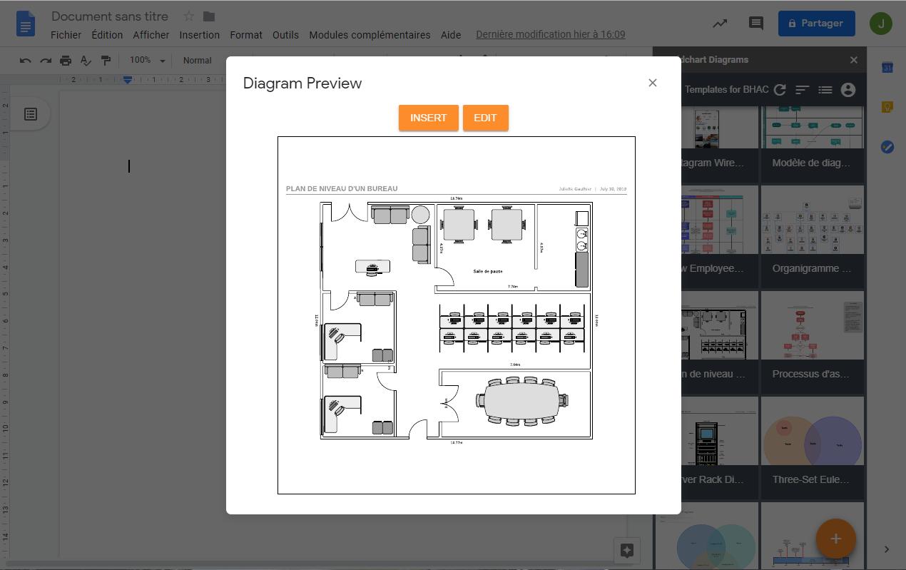 Télécharger et utiliser vos diagrammes Lucidchart dans G Suite