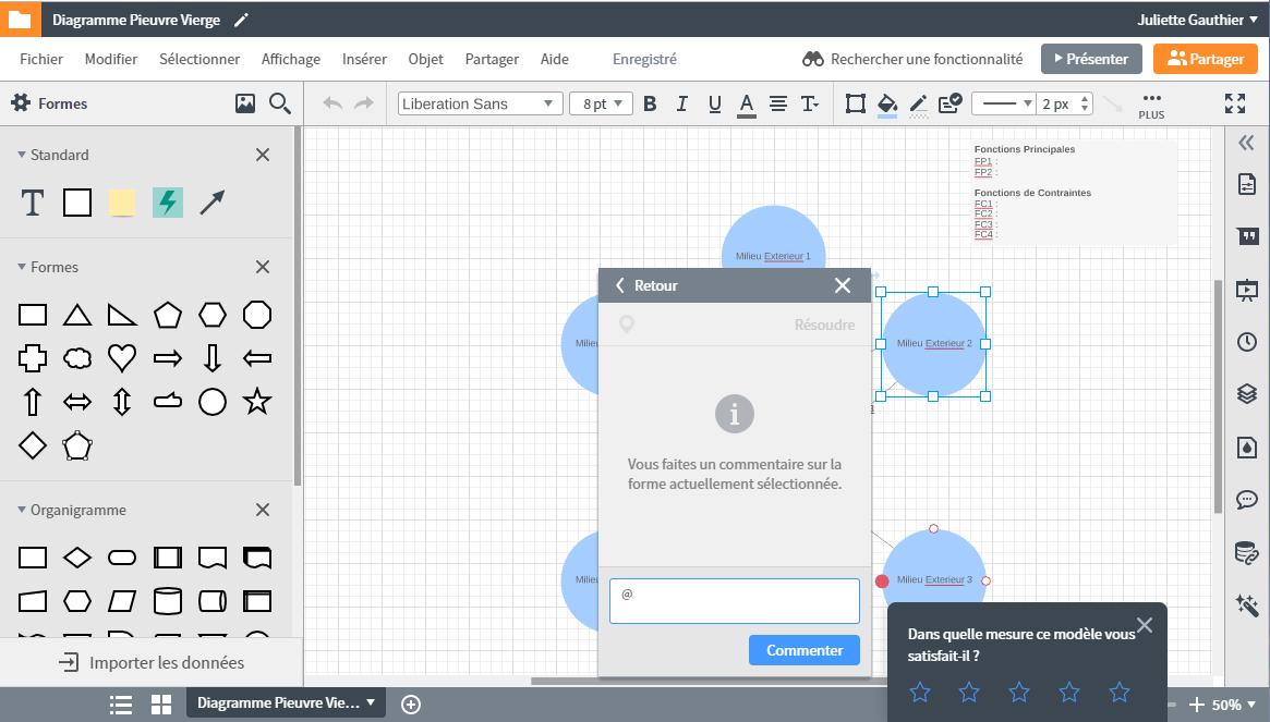 Travailler ensemble sur l'analyse fonctionnelle avec un diagramme pieuvre en ligne