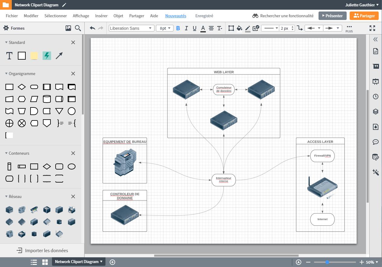 Créer un diagramme de réseau avec Lucidchart