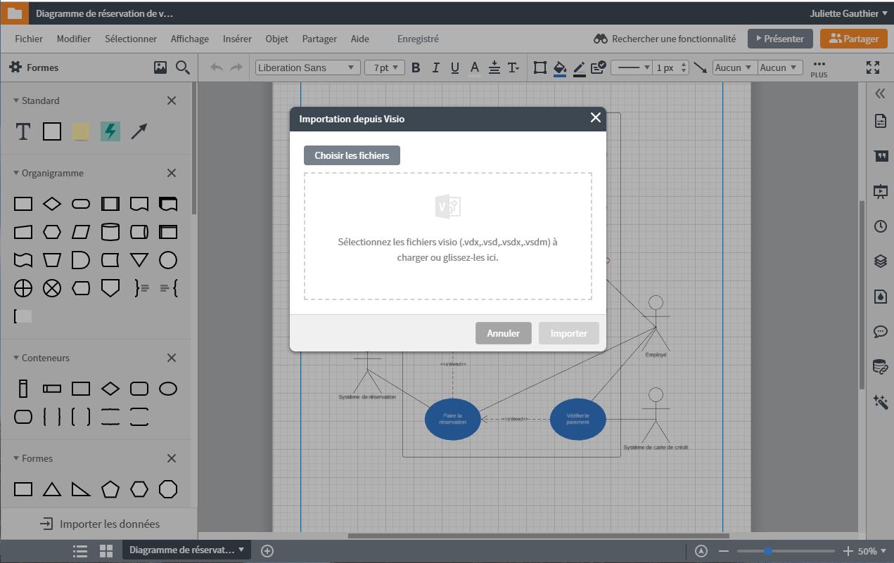 Télécharger sur un Mac vos schéma visio dans Lucidchart