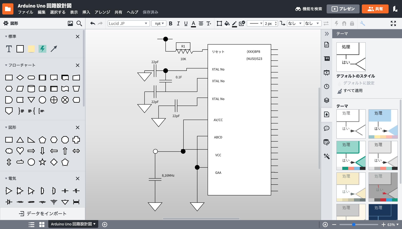 Lucidchart回路図作成フリーソフト