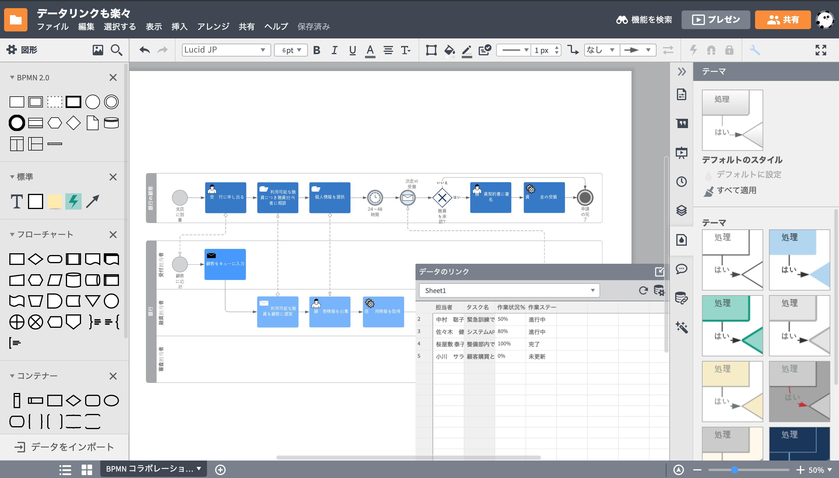 データリンク機能業務フローツール