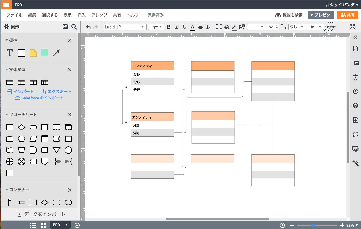 LucidchartER図作成ツールのメリット