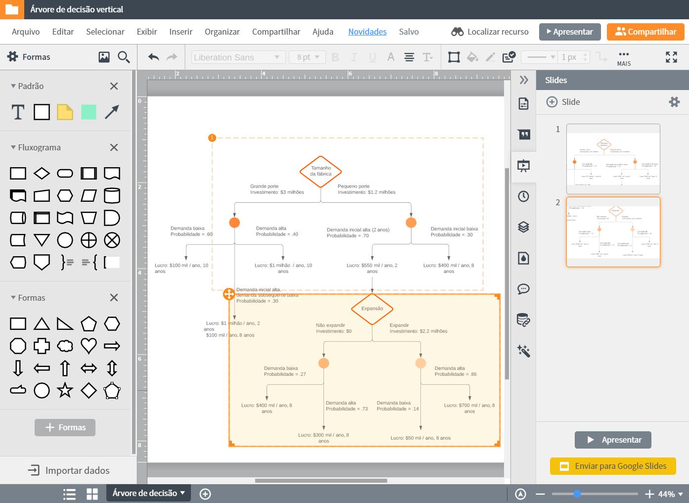 Desenhar árvore binária online