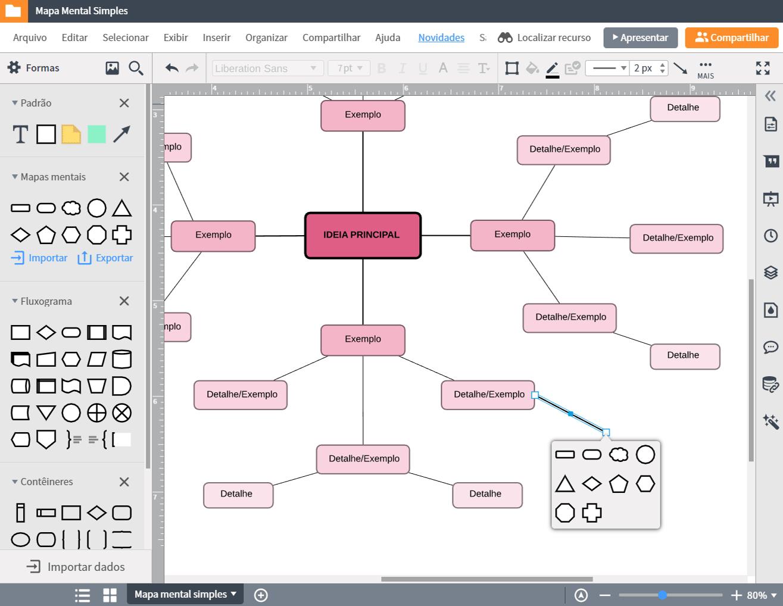 Aplicativo para criar mapas mentais