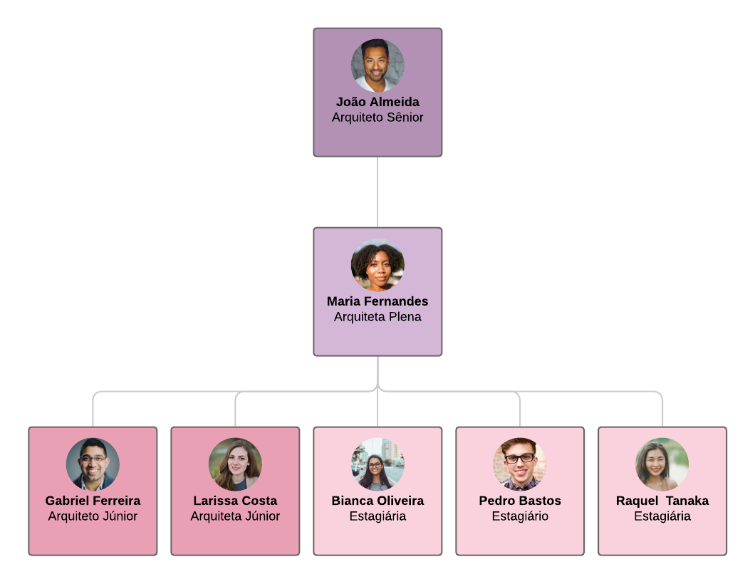 organograma de arquitetura