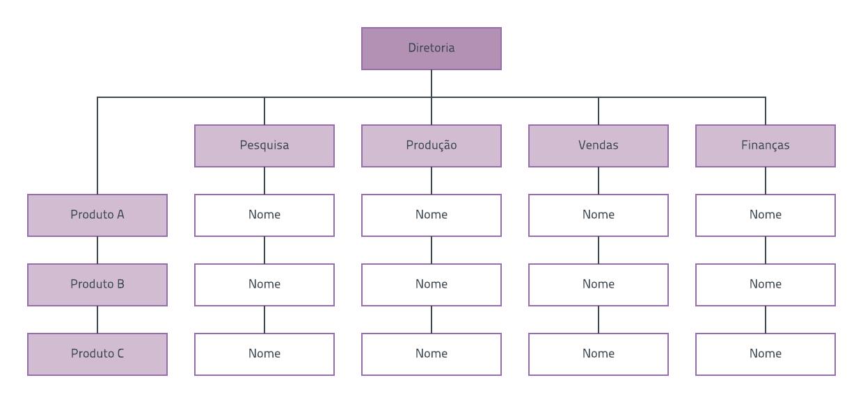 Modelo de organograma matricial