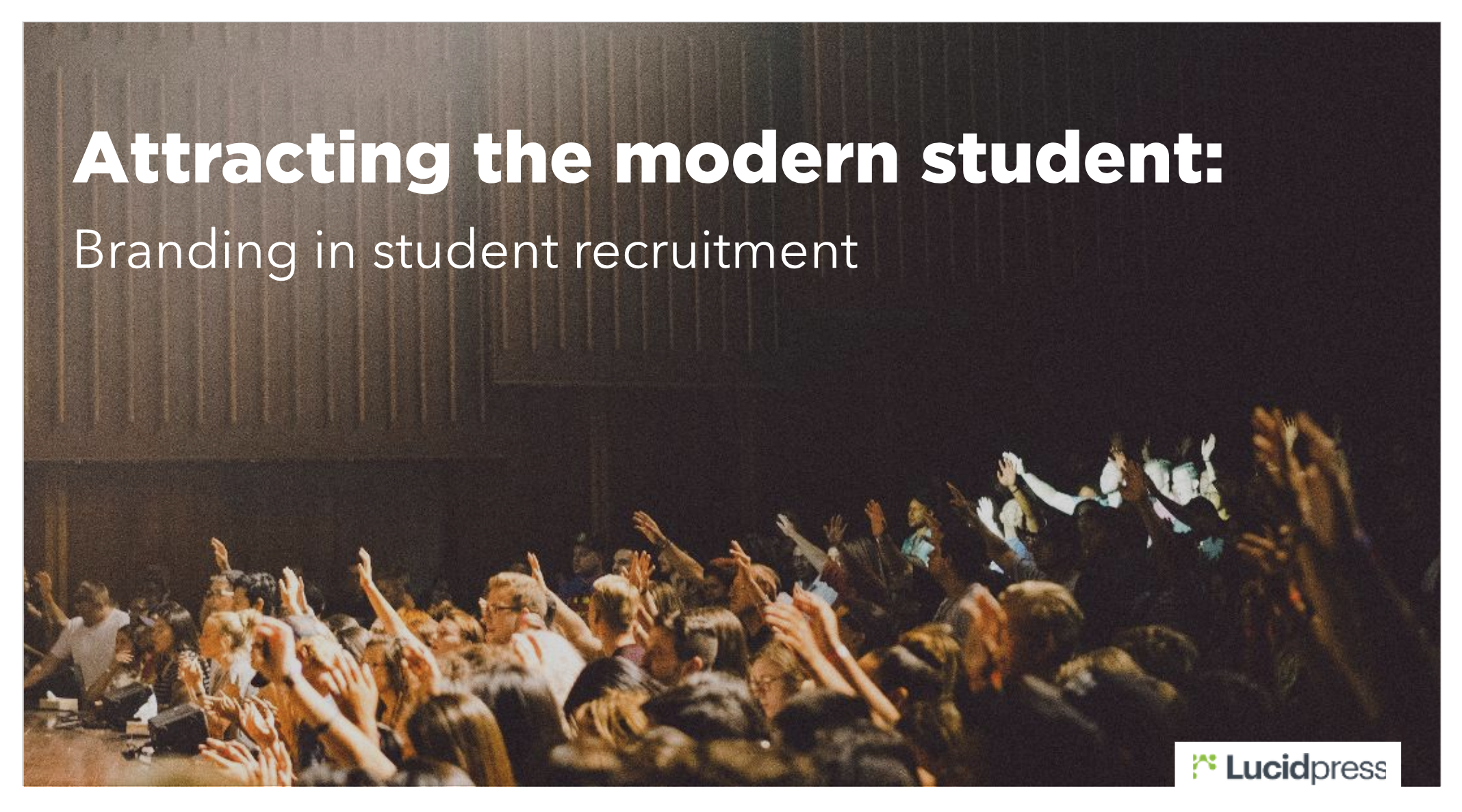 Branding in student recruitment cover
