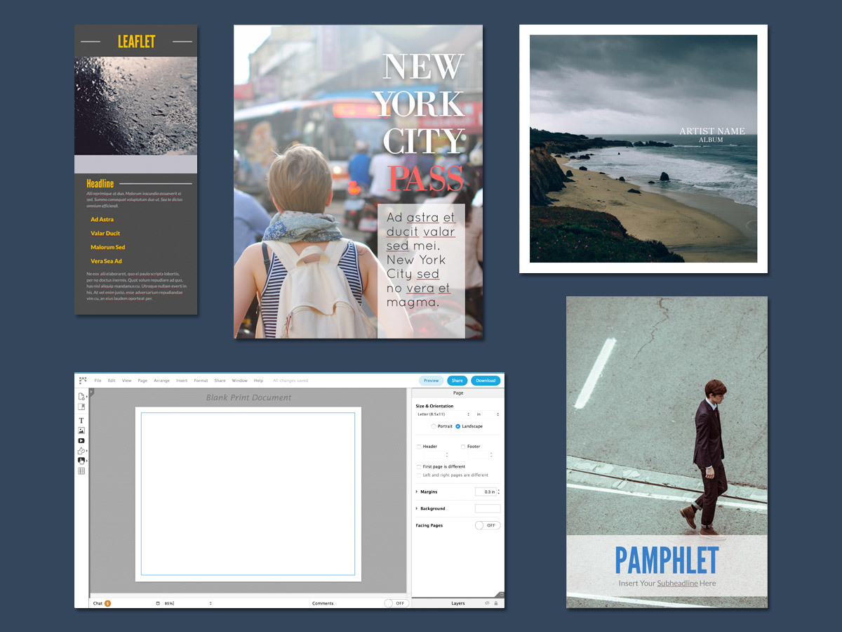 pamphlet layouts