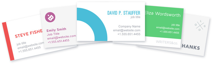 How to make a business card with 15 free templates lucidpress make a business card reheart Image collections