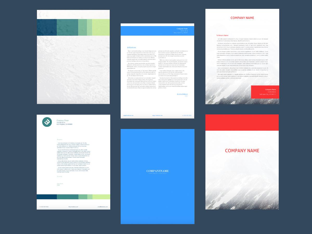 letterhead maker design letterheads online 7 free templates