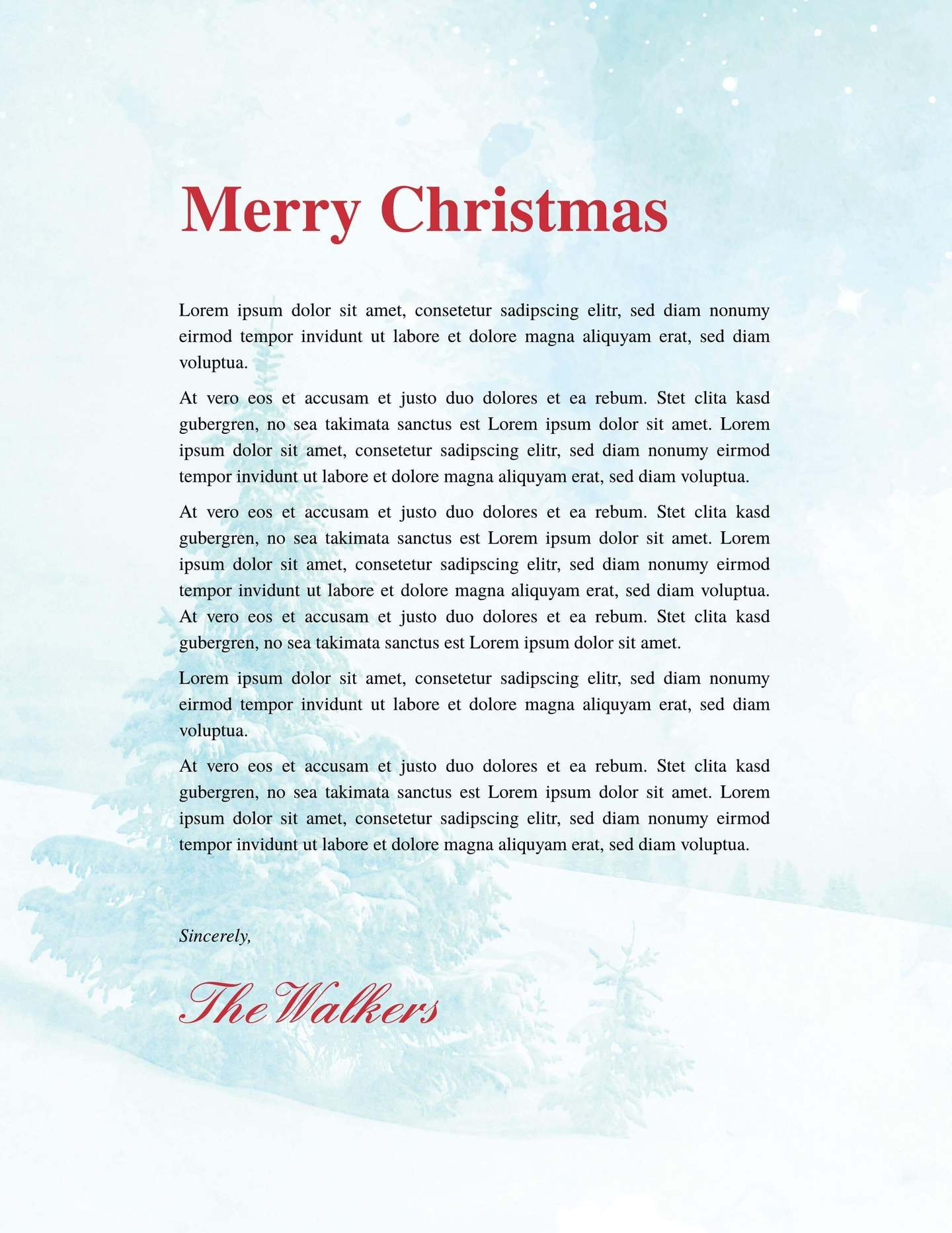 printable holiday newsletter template
