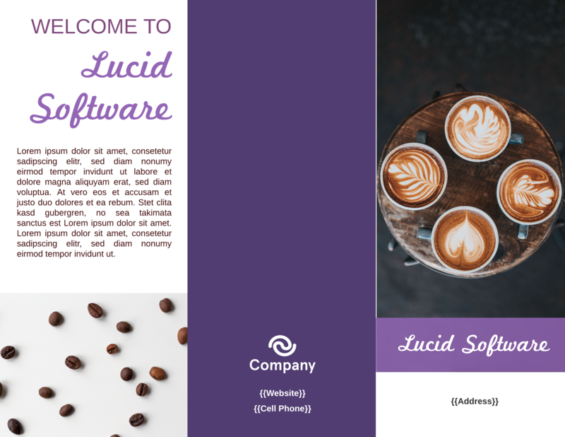 Lavender Cafe Restaurant Brochure Template