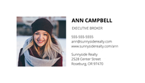 Agency Broker Business Card Template
