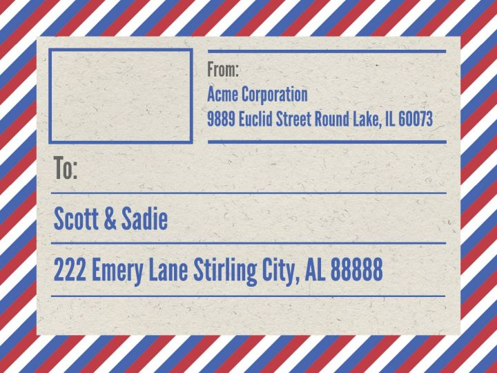 Mailing Shipping Label Templates Examples Lucidpress - Package mailing label template