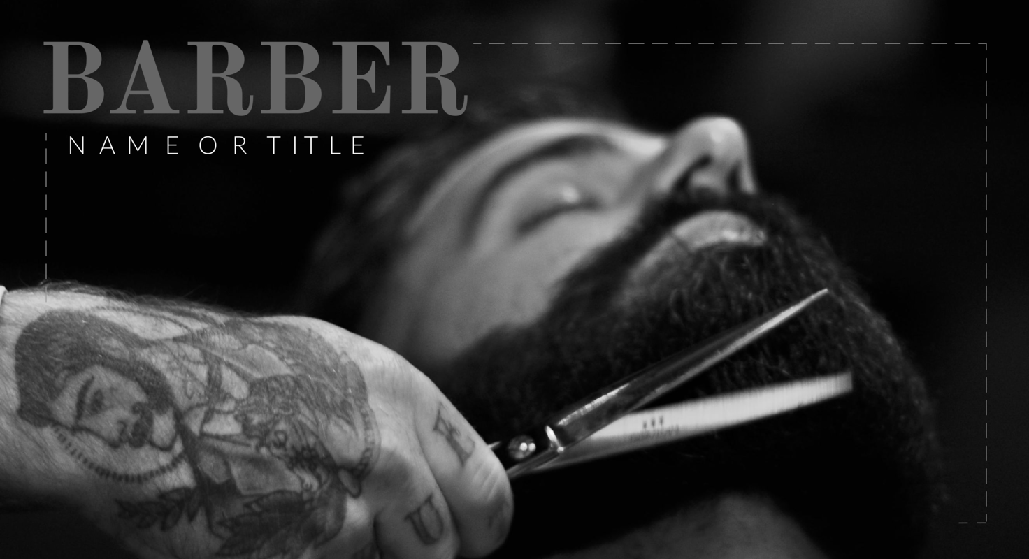 Barber YouTube thumbnail template