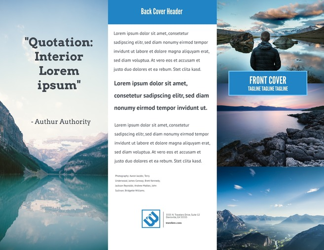 Big Sky Advertising U0026 Marketing Brochure Template