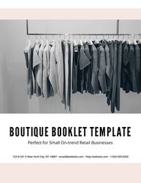 boutique lookbook booklet