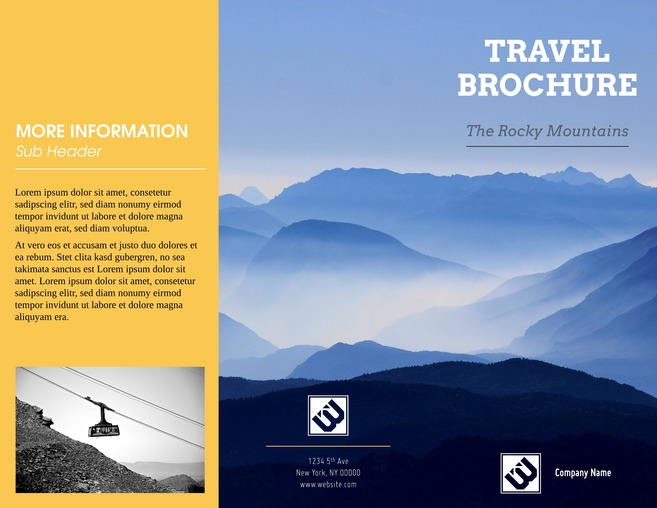 Free tri fold brochure templates examples 15 free for Tour brochure template
