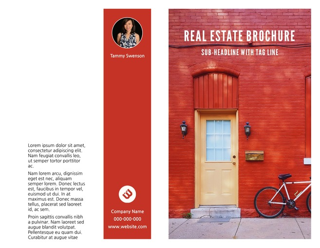 avenues bi fold real estate brochure template - Ngo Brochure Templates