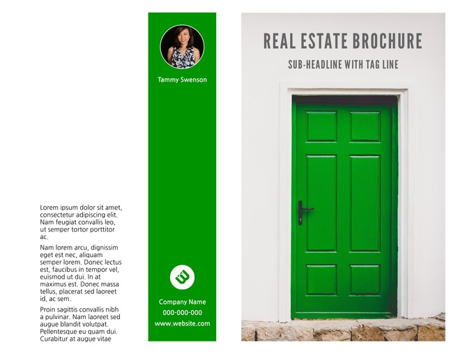 Avenues bi fold real estate brochure template lucidpress for Real estate prospectus template