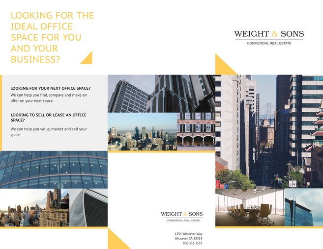 Free tri fold brochure templates examples 15 free for Commercial real estate marketing plan template